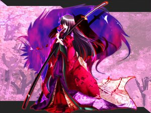 Rating: Safe Score: 22 Tags: japanese_clothes katana sword tagme weapon User: Oyashiro-sama
