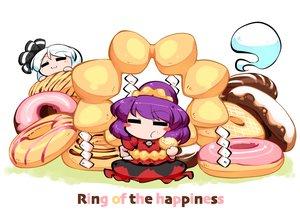 Rating: Safe Score: 3 Tags: 2girls cat_smile dress food kashuu_(b-q) konpaku_youmu myon purple_hair short_hair touhou white_hair yasaka_kanako User: otaku_emmy