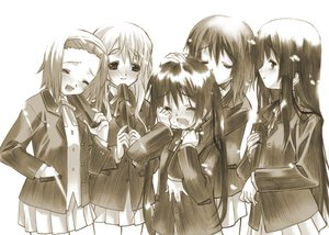 Rating: Safe Score: 57 Tags: akiyama_mio blush crying hirasawa_yui k-on! kotobuki_tsumugi long_hair nakano_azusa polychromatic school_uniform senomoto_hisashi short_hair sketch tainaka_ritsu tears User: HawthorneKitty