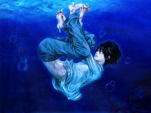 Rating: Safe Score: 22 Tags: all_male animal death_note fish l male underwater water User: haru3173