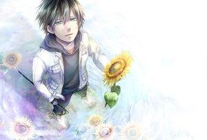 Rating: Safe Score: 48 Tags: ao_no_exorcist flowers jpeg_artifacts katana okumura_rin sunflower sword weapon User: AliceWonderWorld