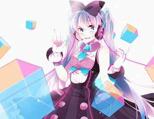 Rating: Safe Score: 30 Tags: aqua_eyes aqua_hair hatsune_miku long_hair magical_mirai_(vocaloid) tagme_(artist) twintails vocaloid User: luckyluna