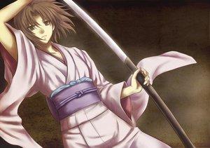 Rating: Safe Score: 27 Tags: brown_eyes brown_hair japanese_clothes kara_no_kyoukai katana kimono ryougi_shiki sword weapon User: HawthorneKitty