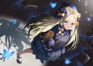 Rating: Safe Score: 97 Tags: abigail_williams_(fate/grand_order) blonde_hair blue_eyes butterfly dress fate/grand_order fate_(series) loli long_hair teddy_bear tukise_33 User: BattlequeenYume