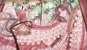 Rating: Safe Score: 17 Tags: brown_hair fan japanese_clothes kimono kisshou_mizuki lolita_fashion long_hair original pink_eyes ribbons User: RyuZU