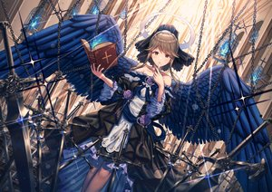 Rating: Safe Score: 105 Tags: angel book cage chain cross flowers goth-loli halo idolmaster idolmaster_million_live! lolita_fashion rose stockings sword tagme_(artist) tenkuubashi_tomoka weapon wings User: sadodere-chan