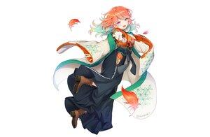 Rating: Safe Score: 62 Tags: blush boots curcumin feathers hololive japanese_clothes kimono orange_hair purple_eyes signed takanashi_kiara white User: otaku_emmy