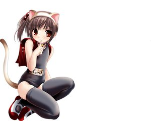 Rating: Safe Score: 86 Tags: animal_ears bell blush brown_eyes brown_hair catgirl collar kyon_no_imouto namamo_nanase school_swimsuit suzumiya_haruhi_no_yuutsu swimsuit tail white User: Oyashiro-sama