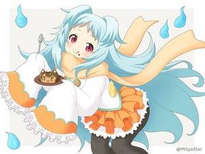Rating: Safe Score: 15 Tags: aqua_hair food izumo_miyako loli long_hair miicha pantyhose princess_connect! red_eyes scarf skirt waifu2x watermark User: otaku_emmy