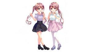 Rating: Safe Score: 45 Tags: 2girls boots food ice_cream loli neki_(wakiko) scan twins white User: mattiasc02