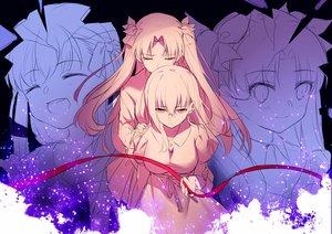 Rating: Safe Score: 56 Tags: 2girls crying dress fate_(series) fate/stay_night long_hair matou_sakura polychromatic ribbons sketch tears tohsaka_rin twintails yaoshi_jun User: otaku_emmy
