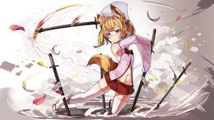 Rating: Safe Score: 62 Tags: animal_ears foxgirl katana kemomimi_oukoku_kokuei_housou mikoko_(kemomimi_oukoku_kokuei_housou) natori_youkai navel ofuda skirt sword tail thighhighs weapon User: BattlequeenYume