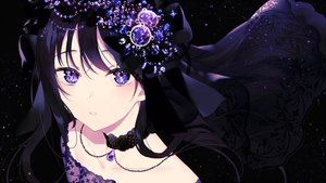 Rating: Safe Score: 125 Tags: achiki black black_hair choker close headdress long_hair necklace original purple_eyes waifu2x User: otaku_emmy