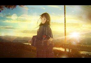 Rating: Safe Score: 10 Tags: clouds nakamura_yukihiro original seifuku sky sunset User: FormX