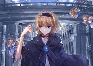 Rating: Safe Score: 112 Tags: alice_margatroid blonde_hair blue_eyes cape choker doll headband kirisame_marisa mage meng_zia necklace shanghai_doll short_hair touhou witch User: mattiasc02