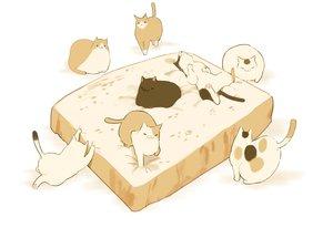 Rating: Safe Score: 35 Tags: animal cat chai_(artist) food nobody original polychromatic white User: otaku_emmy