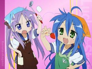 Rating: Safe Score: 19 Tags: food fruit hiiragi_kagami izumi_konata lucky_star strawberry User: 秀悟