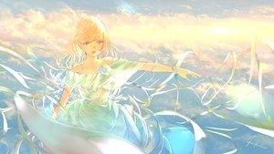 Rating: Safe Score: 36 Tags: aqua_eyes blonde_hair clouds dress goroku long_hair original signed sky User: RyuZU