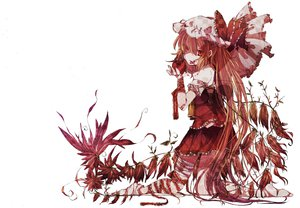 Rating: Safe Score: 37 Tags: apple barefoot flandre_scarlet food fruit red_eyes skirt touhou vampire wings User: jironimo