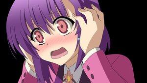 Rating: Safe Score: 39 Tags: black blush close mm! pink_eyes purple_hair yuuno_arashiko User: Wiresetc