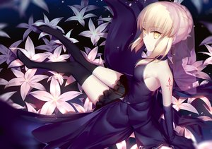 Rating: Safe Score: 158 Tags: artoria_pendragon_(all) blonde_hair dress fate/grand_order fate_(series) flowers gloves saber saber_alter short_hair wukloo yellow_eyes User: RyuZU