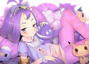 Rating: Safe Score: 61 Tags: acerola_(pokemon) aliasing blush bow cat_smile dress drifloon gastly gengar hideousbeing litwick loli mimikyu pantyhose phantump pokemon purple_eyes purple_hair sableye short_hair User: mattiasc02