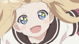 Rating: Safe Score: 80 Tags: aqua_eyes blonde_hair blue_eyes close school_uniform toshinou_kyouko vector yuru_yuri User: mattiasc02