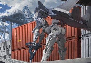 Rating: Safe Score: 53 Tags: ace_combat ace_combat_7 anthropomorphism armor ass black_hair clouds industrial mecha red_eyes short_hair sky techgirl tom-neko_(zamudo_akiyuki) wings User: otaku_emmy