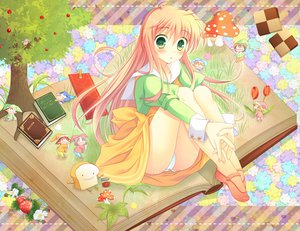 Rating: Safe Score: 76 Tags: blush book jinrui_wa_suitai_shimashita licoco long_hair panties pink_hair tree underwear watashi_(jinrui_wa_suitai_shimashita) User: Wiresetc