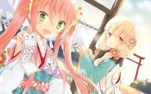 Rating: Safe Score: 63 Tags: cafe_sourire cuteg japanese_clothes mizushima_serika ogiwara_kyouko yukata User: Wiresetc