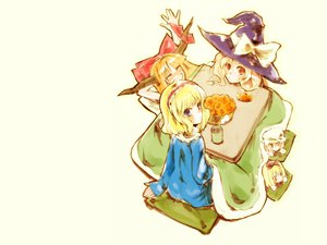 Rating: Safe Score: 31 Tags: alice_margatroid blonde_hair blue_eyes doll hat horns hourai ibuki_suika kirisame_marisa kotatsu long_hair orange_hair red_eyes ribbons short_hair tagme_(character) touhou white witch yellow_eyes User: Oyashiro-sama