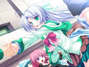 Rating: Safe Score: 20 Tags: alicia_infans bow game_cg green_eyes long_hair magus_tale school_uniform tenmaso whirlpool User: Oyashiro-sama