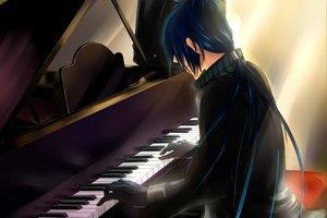 Rating: Safe Score: 45 Tags: all_male blue_hair gloves instrument katekyou_hitman_reborn long_hair male piano ponytail rokudou_mukuro User: Tensa