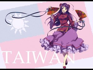 Rating: Safe Score: 37 Tags: anthropomorphism axis_powers_hetalia blush chinese_clothes chinese_dress fan long_hair purple_hair taiwan_(hetalia) User: w7382001
