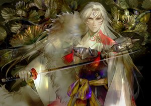 Rating: Safe Score: 33 Tags: aliasing all_male armor inuyasha japanese_clothes katana long_hair male sesshomaru sword tagme_(artist) tail tattoo weapon white_hair yellow_eyes User: otaku_emmy