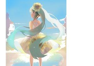 Rating: Safe Score: 28 Tags: aqua_eyes aqua_hair dress flowers hatsune_miku long_hair sunflower twintails vocaloid weitu User: mattiasc02