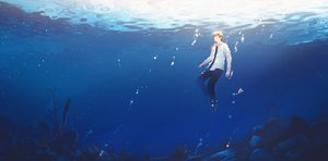 Rating: Safe Score: 43 Tags: all_male hanasei male original underwater water User: FormX