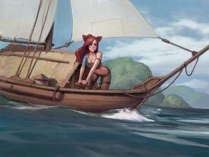Rating: Safe Score: 157 Tags: animal_ears boat catgirl final_fantasy final_fantasy_xiv jeff_macanoli miqo'te User: gnarf1975