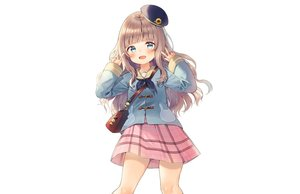 Rating: Safe Score: 43 Tags: blush brown_hair green_eyes hat loli long_hair midorikawa_you original school_uniform skirt white User: otaku_emmy