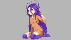 Rating: Safe Score: 98 Tags: boots cat_smile gray hoodie loli long_hair no_game_no_life orange_eyes pixel_(yuxian) purple_hair shuvi_dola zettai_ryouiki User: Hakha