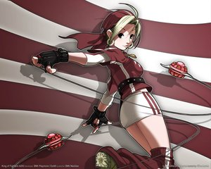 Rating: Safe Score: 29 Tags: blonde_hair brown_eyes gloves king_of_fighters malin weapon User: lost91colors