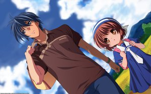 Rating: Safe Score: 20 Tags: clannad okazaki_tomoya okazaki_ushio signed vector User: 秀悟