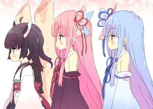 Rating: Safe Score: 61 Tags: aqua_hair black_hair headdress japanese_clothes kotonoha_akane kotonoha_aoi loli long_hair petenshi_(dr._vermilion) pink_eyes pink_hair short_hair touhoku_kiritan twins voiceroid User: otaku_emmy