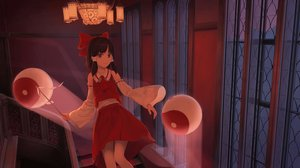 Rating: Safe Score: 34 Tags: bow brown_eyes brown_hair dark hakurei_reimu japanese_clothes miko night stairs touhou turu User: RyuZU
