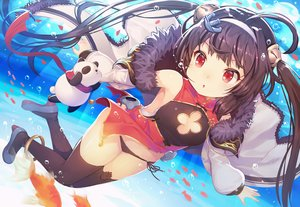 Rating: Safe Score: 104 Tags: animal anthropomorphism azur_lane bear brown_hair chinese_clothes chinese_dress dress fish headband kibanda_gohan loli long_hair panda panties ping_hai_(azur_lane) red_eyes scarf thighhighs twintails underwater underwear water User: RyuZU