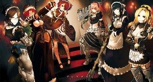 Rating: Safe Score: 113 Tags: alpha_yuri apron black_eyes black_hair blonde_hair breasts choker cleavage collar cz2128_delta dress elbow_gloves entoma_vasilissa_zeta epsilon_solution eyepatch gamma_narberal garter glasses gloves group gun headdress japanese_clothes katana kimono logo long_hair lupusregina_beta overlord pink_hair red_eyes red_hair scan scarf shizu short_hair so-bin sword weapon yellow_eyes User: luckyluna