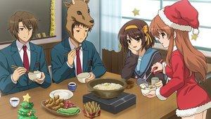 Rating: Safe Score: 39 Tags: asahina_mikuru christmas cosplay food game_cg group koizumi_itsuki kyon male reindeer school_uniform suzumiya_haruhi suzumiya_haruhi_no_tsuisou suzumiya_haruhi_no_yuutsu User: SciFi