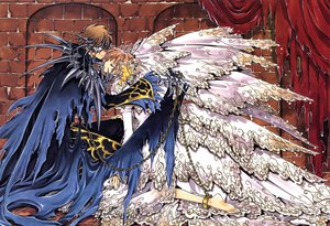 Rating: Safe Score: 59 Tags: barefoot blue_eyes brown_hair chain clamp dress male sakura_(tsubasa) shackles short_hair syaoran torn_clothes tsubasa_reservoir_chronicle wings User: ホタル
