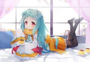 Rating: Safe Score: 62 Tags: aqua_hair bed blush flowers food izumo_miyako loli long_hair pantyhose princess_connect! red_eyes scarf skirt tagme_(artist) User: BattlequeenYume