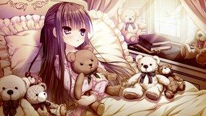 Rating: Safe Score: 98 Tags: aliasing bed book boukyaku_shitsuji_to_koi_suru_ojou-sama_no_memoir campus chidori_hinano game_cg loli long_hair pajamas rubi-sama teddy_bear User: FormX